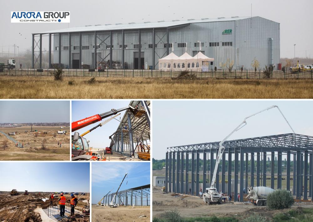 Lucrari structura si arhitectura 'Statie sortare deseuri' RER Ecologic Service Buzau